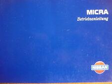 Betriebsanleitung Nissan Micra + Automatik Klimaanlage Benzin + Diesel Motor TOP