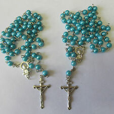 Wholesale Job Lots 4 x Lovely Rosary Beads Necklaces Or Bracelets SP Crucifix
