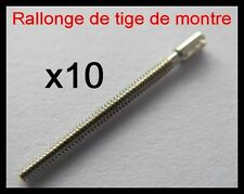 x10 rallonge de tige Ø0.90mm de montre quartz, mécanique, gousset