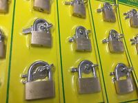 BRASS PADLOCK LUGGAGE SUIT CASE 12 PCS SET DIFFERENT SIZES WITH FREE P&P UK SELL