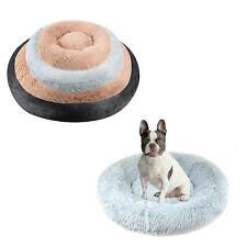 Donut Dog Bed Soft Cat Puppy Pet Cushion Grey Beige Black Small Medium Large XL
