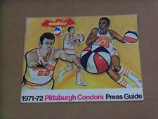 1971 Pittsburgh Condors (ABA) Media Guide, Decent