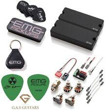 EMG DE Set Black David Ellefson 5 String Soapbar Bass 40DC & 40CS (TIN KEYCHAIN)