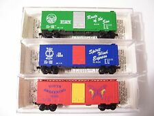 MICRO TRAINS  KADEE GOSPEL TRAIN 3 BOX CARS SPECIAL RUN SET #152 w/PAPERWORK N