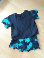 ARMANI Junior Girl's Shorts and Shirt outfit (Size 6) Blue