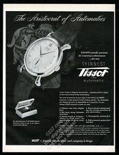 1949 Tissot automatic watch photo vintage print ad