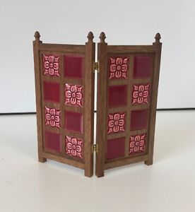TERRY CURRAN TILED FIRE GUARD VINTAGE ARTISAN FIREPLACE DOLLS HOUSE DOLLHOUSE
