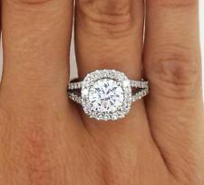 4.05 ct VS2 Round Cut Diamond Solitaire Engagement Ring White Gold 14k 262626