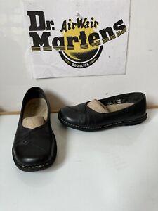 Dr. Martens Black Leather Work/School/ Casual Shoes Size UK 6 EU 39