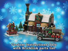 LEGO Winter Village Chocolatier INSTRUCTIONS ONLY for LEGO Bricks (Christmas)