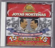 """Los Alegres de Teran-""""Joyas Nortenas-15 Clasicas-Tejano Tex Mex CD SEALED (#380)"""