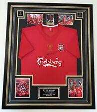 ** Rare STEVEN GERRARD of Liverpool 2005 Signed Shirt Autographed Jersey **