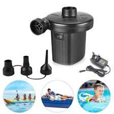 Electric Air Pump Inflator for Inflatable Camping Bed pool 240V 12V Car Black UK