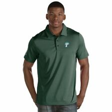 "New Tulane Green Wave Mens ""Quest"" Striped Polo Shirt - Green & White Small"