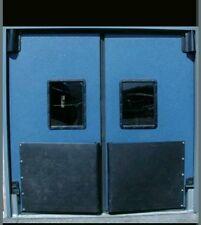 """96""""x 96"""" Impact Traffic Door New. Warehouse Swinging Doors Vcam Double Swinging."""