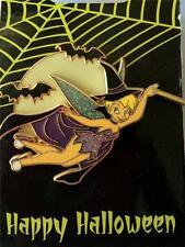Disney Halloween Tinker Bell Witch Bats Wand Sparkle Glitter Glow Pin NEW