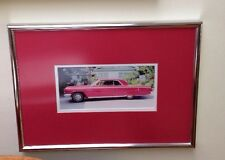 Vintage Photograph Impala Pink Framed And Matted Man Cave Decor! Father's Day!