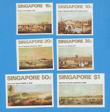 SINGAPORE  - scott 144-149  - VFMNH   Singapore City Views - 1971