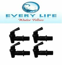 Black Faucet BPA Free Spigot 4- Pack with Washers and Nuts Size 3/4 inch