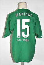 2005-06 VFL Wolfsburg Trikot #15 Makiadi Gr. L grün Jersey VW Patch Nike