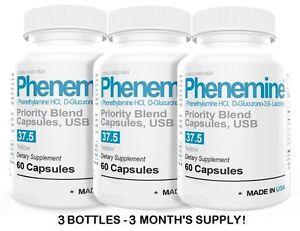 3 Phenemine Slimming Adipex Best Diet Pills Appetite Suppressant Supplement 37.5