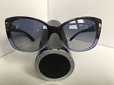 New Bvlgari BV 8170 Havana Gradient Blue Tortoise Women's Oversized Sunglasses