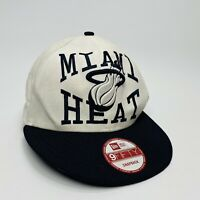 Rare HWC White & Blue Miami Heat Basketball NBA New Era 9FIFTY Snapback Hat