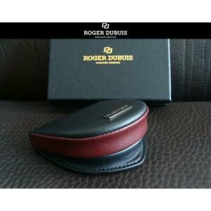 ROGER DUBUIS × MONTBLANC Leather Horseshoe Coin Case Black×Red in Box New