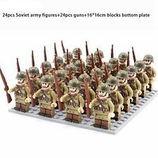 ⭐Lego WW2 21Pcs Front de l'Est Armée soldats Russe Army Militaire Stalingrad ⭐