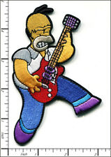 10 Pcs Embroidered Iron on patches Bart Simpson Cartoon Play Guitar AP024cE