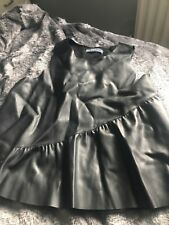 Zara Leather Look Top