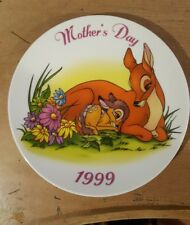 Disney BAMBI Mothers Day 1999 Holiday Grolier Ceramic Porcelain Plate Near Dear.