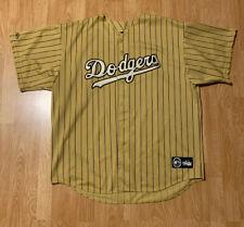 Vintage Majestic Los Angeles Dodgers Gold/Pinstripes Jersey Size Men's 2XL XXL