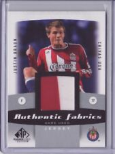 2011 SP Game Used MLS Authentic Fabrics #JB Justin Braun 2 color Jersey Flat S/H