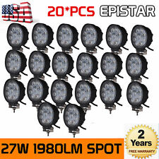 20X 27W LED Round Work Lamp Light Bar Offroad Tractor Car UTE Boat Truck 12V/24V