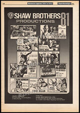 SHAW BROTHERS__Orig. 1981 Trade print AD promo / poster__Corpse Mania__Spearman