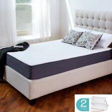 "12"" inch Queen COOL MEDIUM-FIRM GEL Memory Foam Mattress Bed with 2 Free Pillows"