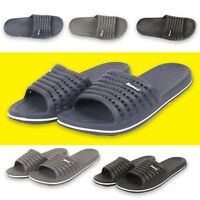 Mens Casual Slip On Shower Slides Gym Beach Swimming Sandals Pool Sliders Size