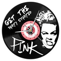 PINK Vinyl Record Wall Clock Get the Party Started Singer pop Star Artist Alecia