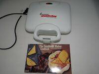 Toastmaster Snackster Maker Model TSM2 with Sandwich Maker Cookbook
