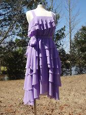 Antonio Melani Agnes Tiered Hydrangea Purple Chiffon Dress NWT Size 4