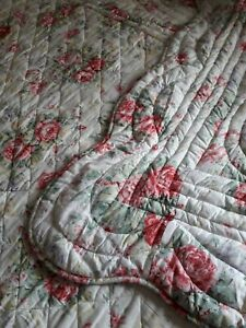 Vintage Style Chintz Cotton Quilt Topper By Le Chateau Single double Bedspread