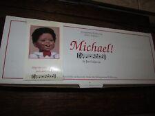 ARTIST DOLL BY JAN GALPERIN MICHAEL BLACK BISQUE BOY DOLL MINT IN BOX