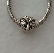 Owl Head Animal Bird Bead Spacer for Silver European Style Charm Bracelets