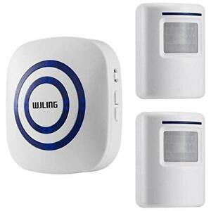 WJLING Motion Sensor Alarm Wireless Home Security Driveway Alarm Motion Sen...