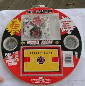 RARE Vintage Air Slammin Michael Jordan NBA Coins Kaps Slammers Game Board SET
