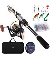 Magreel canne télescopiques Kit de Canne à Pêche au lancer léger