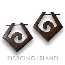 1 Paar! Ohrringe Goa Creolen Holz Wood Piercing Schmuck ER057