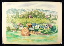 Rolande VERGÉ-SARRAT (XX) Languedoc Montagne Vue de TOURNAY Pyrénées Musées