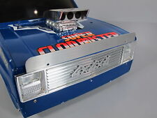 Aluminum Front Hood Bug Deflector Shield for Tamiya 1/10 Hilux Pickup Clodbuster